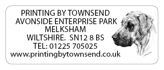 Printing by townsend address labels